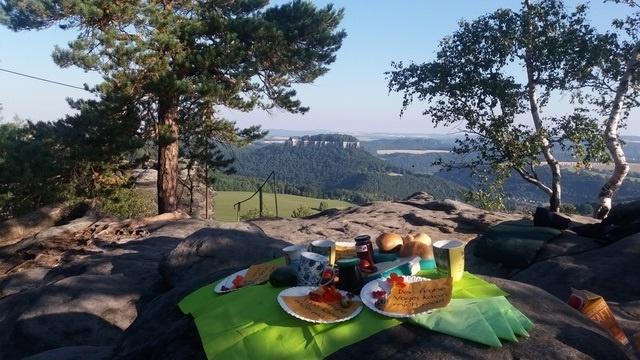 Frühstück auf dem Pfaffenstein