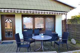 Ferienhaus Serrahn mit Kamin und Terrasse Terrasse
