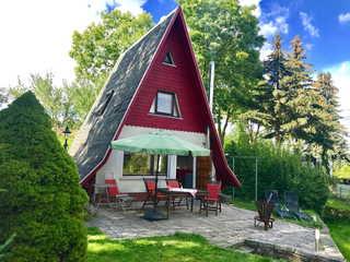 Ferienhaus im Nationalpark Unteres Odertal Finnhütte mit Terrasse