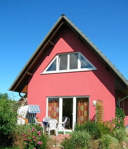 Blick auf die Terrasse Ferienhauses