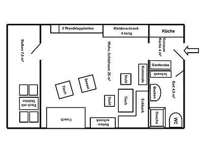 Grundriss Ihres Appartements