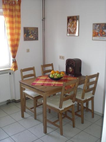 Die Sitzgruppe in der Küche