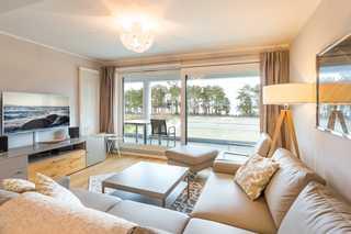 Appartement Strandidylle NP1 inklusive Sauna in Prora Wohnbereich
