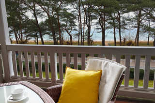 Strandlust 610 Villa Seeadler Balkon mit Meerblick