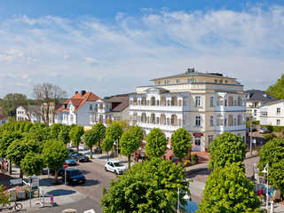 Villa Fernsicht F587 Penthouse mit riesiger Dachterrasse Villa Fernsicht im Ostseebad Sellin Hausansicht