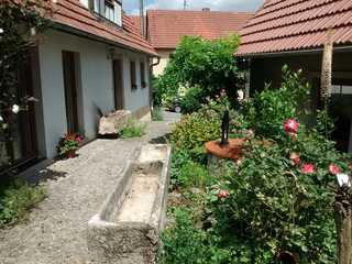 Ferienhaus Herzogenreuth Eingangsbereich und Nebengebäude