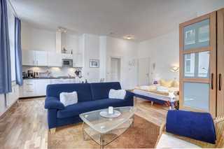 Bansin - Villa Frieda, Wohnung 8 Wohnzimmer