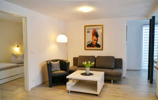 Ferienhaus Kerkwitz Wohnzimmerbereich