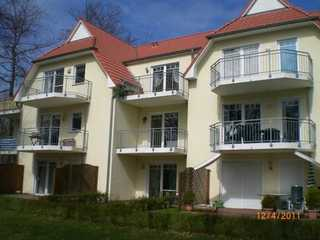 *FeWo Lohnke GM 69512 Blick auf den Balkon - Südseite der Ferienwohnung