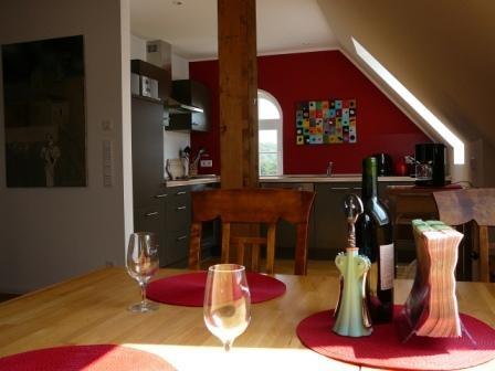 Altes Speicherhaus Wohnraum und Küche
