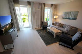 Haus Meersinn, Whg. 24a Wohnbereich mit Zugang zur Terrasse