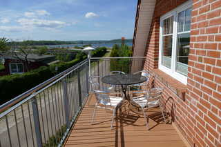 Haus am Deich- Feriendomizil mit Balkon Balkon mit Blick auf den Selliner See