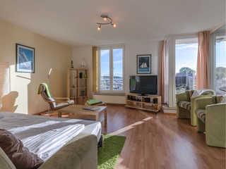 Hafenglück im Yachthafen 3*** Wohnzimmer mit Schlafcouch