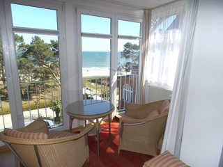 Ferienwohnung Villa Freia 27 im Ostseebad Binz Aussicht zum Meer