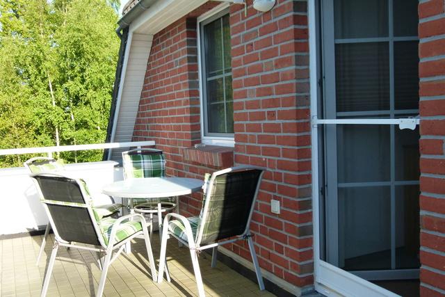 Dachterrasse Ferienwohnung für 4 Personen