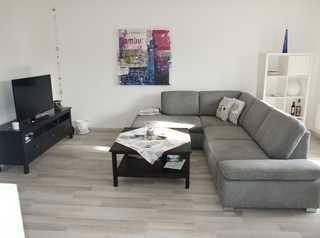 Ferienwohnung Meeresbrise Heller Wohnraum mit Schlafcouch für 2 Personen