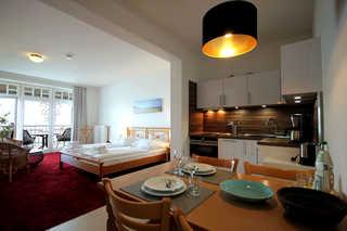 Villa Bellevue, Whg. 21 Wohn- und Küchenbereich