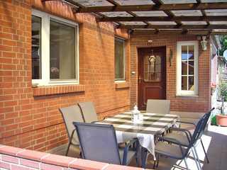Ferienwohnung Conow SEE 9211 Terrasse und Eingang zur Ferienwohnung
