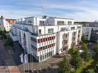 Residenz Bel Vital 23 im Ostseebad Binz auf Rügen Blick auf das Bel Vital vom Hotel Arkona
