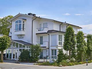 """Villa Schwan F654 WG 17 """"Sonnengruߓ mit 2 Terrassen Villa Schwan am Schmachter See im Ostseebad Binz"""