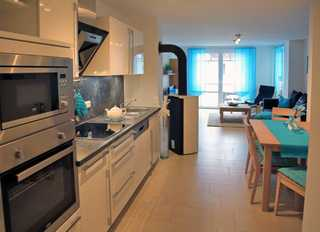 Residenz Sonnenschein WE 04 Strandkorb Küche und Essbereich