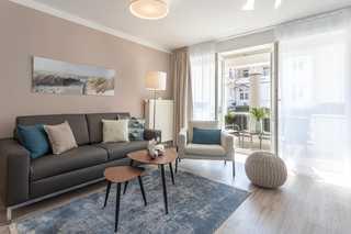 Villa Strandidyll FeWo pier25 N°1 Wohnbereich