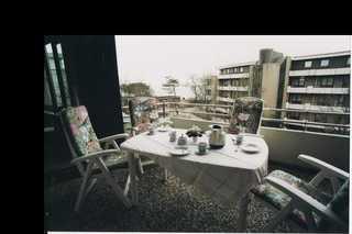 Haus Flora, Osterstr. 1, Whg.12 Blick vom Balkon