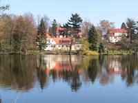 Ferienwohnung am Faulen See Das Haus vom See aus