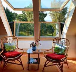 Südstrand-90qm-Traum-4*, Meerblick, Pool-u.Sauna-Special Cabriofenster-Balkone bei 2er Panorama-Sitzgrup...