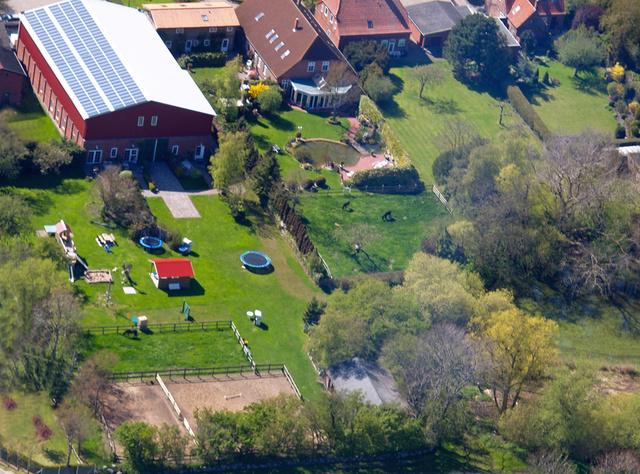Luftaufnahme vom Bauernhof Wohler in Bojendorf