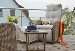Ferienhaus Ausguck Aussicht vom Balkon