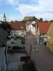 Ferienwohnung Burg Lindenfels Blick von der Wohnung auf die Burg