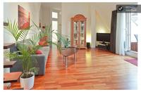 Blueberry Hill Wohnraum mit Blick in die Wohnküche & Bad