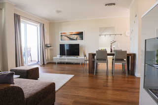 Residenz Seestern WE 16 - Penthouse Ostseemöwe Wohnbereich